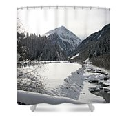 Iced River Shower Curtain
