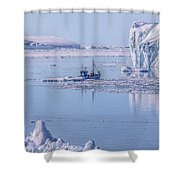 Icefjord In Greenland Shower Curtain