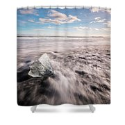 Iceland And Glaciers Shower Curtain