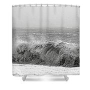 Iceland Black Sand Beach Wave Five Shower Curtain