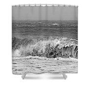 Iceland Black Sand Beach Wave One  Shower Curtain