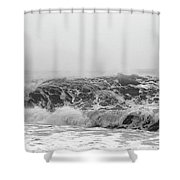 Iceland Black Sand Beach Wave Three Shower Curtain