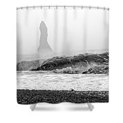 Iceland Black Sand Beach Wave Two Shower Curtain