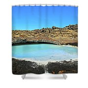 Iceland Blue Lagoon Exploring The Lava Fields Shower Curtain