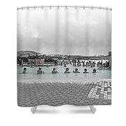 Iceland Blue Lagoon Geothermic Seawater Shower Curtain