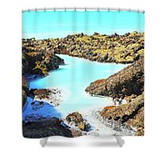 Iceland Blue Lagoon Healing Waters Shower Curtain
