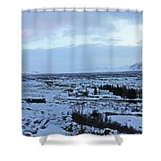 Iceland Country Side Clouds Mountains Stream Iceland Rocks Lake Clouds Iceland 2 2112018 0971 Shower Curtain