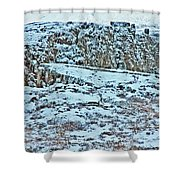 Iceland Country Side Clouds Mountains Stream Iceland Rocks Lake Clouds Iceland 2 2112018 0976 Shower Curtain