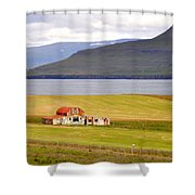 Iceland Landscape Shower Curtain