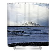 Iceland Lava Field Mountains Clouds Iceland Lava Field Mountains Clouds Iceland 2 282018 1837.jpg Shower Curtain