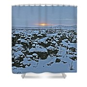 Iceland Lava Field Sunrise Mountains Clouds Iceland 2 2112018 1024jpg Shower Curtain