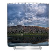 Iceland Mountain Reflections  Shower Curtain