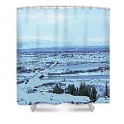 Iceland Mountains Lakes Roads Bridges Iceland 2 2112018 0945 Shower Curtain