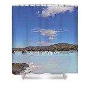 Iceland Popular Blue Lagoon  Shower Curtain