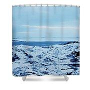 Iceland Rocks Lake Clouds Iceland 2 2112018 0935 Shower Curtain
