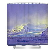 Iceland Sunrise Glacier Lava Field Sunrise Mountains Clouds Iceland 2 2122018 1882.jpg Shower Curtain