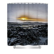 Iceland Sunrise Iceland Lava Field Streams Sunrise Mountains Clouds Iceland 2 2112018 1095.jpg Shower Curtain