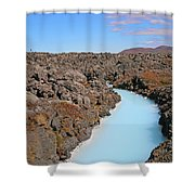 Iceland Tranquil Blue Lagoon  Shower Curtain