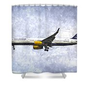 Icelandair Boeing 757 Art Shower Curtain