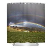Icelandic Rainbows Shower Curtain