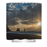 Icelandic Seascape Shower Curtain