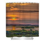 Icelandic Sunset Shower Curtain
