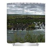 Icelandic Waterfall Shower Curtain