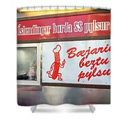 Iceland's World Famous Hot Dog Stand Iceland 2 3122018 J2328.jpg Shower Curtain