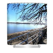 Icey River Shower Curtain