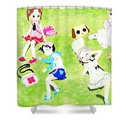 Ichigo Mashimaro Shower Curtain