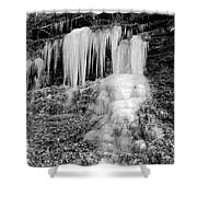 Icicles At Frozen Head Shower Curtain