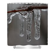 Icicles Close-up Shower Curtain