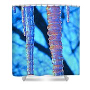 Icicles Four Shower Curtain