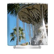 Icicles In A Palm Filled Sky Number 1 Shower Curtain