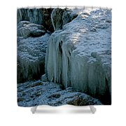 Icicles On The Rocks Shower Curtain