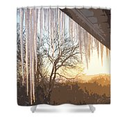 Icicles One Shower Curtain