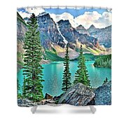 Iconic Banff National Park Attraction Shower Curtain
