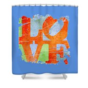 Iconic Love - Grunge Shower Curtain