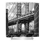 Iconic Manhattan Bw Shower Curtain by Az Jackson