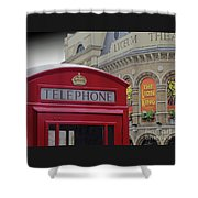 Iconic Postbox And Lyceum Theatre Shower Curtain