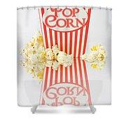 Iconic Striped Popcorn Carton Shower Curtain