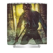 Icons Of Horror Evil Dead Shower Curtain