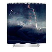Icons Of Horror Nightmare On Elm Street Shower Curtain