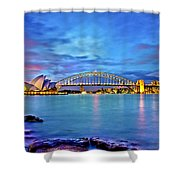 Icons Of Sydney Harbour Shower Curtain