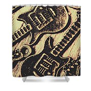 Icons Of Vintage Music Shower Curtain