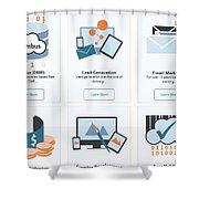 Icumulus Services Shower Curtain