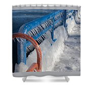 Icy Aftermath Shower Curtain
