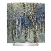 Icy Bells Shower Curtain