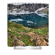 Icy Blue And Lush Green Shower Curtain