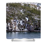 Icy Cliff In Winter Shower Curtain